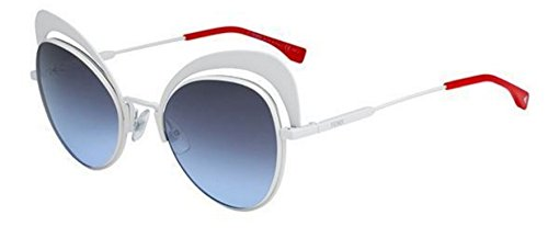 New Fendi EYESHINE FF 0247/S VK6/GO white/grey blue shaded Sunglasses