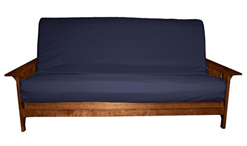 Epic Furnishings Better Fit Machine Washable Upholstery Grade Futon Cover , Full 6-Inch-size, Twill Navy Blue