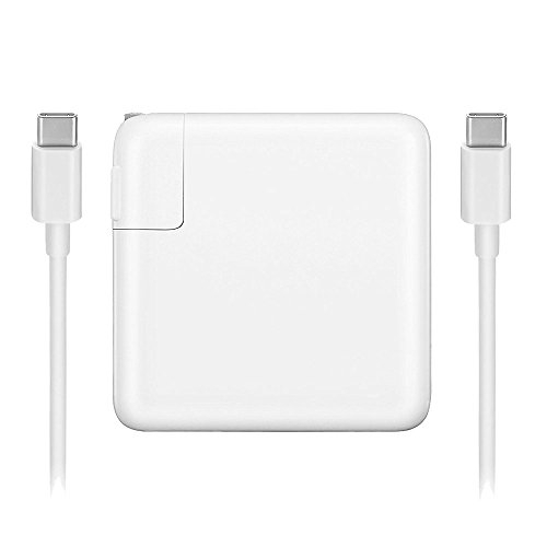87W USB-C Power Adapter Charger with USB-C to USB-C Charge Cable for Apple Macbook 15 inch Power Adapter Cable Model