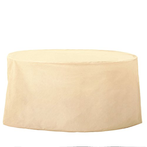 Grand Patio Oval Patio Table Cover, Weather-Resistant Patio Table and Chair Covers, Waterproof and Durable Patio Dining Set Cover, Beige