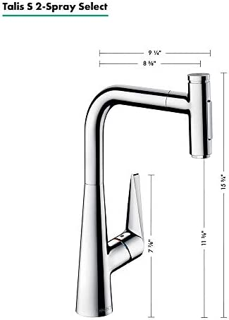 Hansgrohe Talis Select S Premium 1 Handle 16 Inch Tall Kitchen Faucet With Pull Down Sprayer With Quickclean In Chrome 73867001 Home Improvement Amazon Com