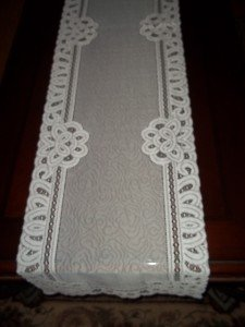 lace table runner white sheer 36 x 14 floral home decor accent wtrf699