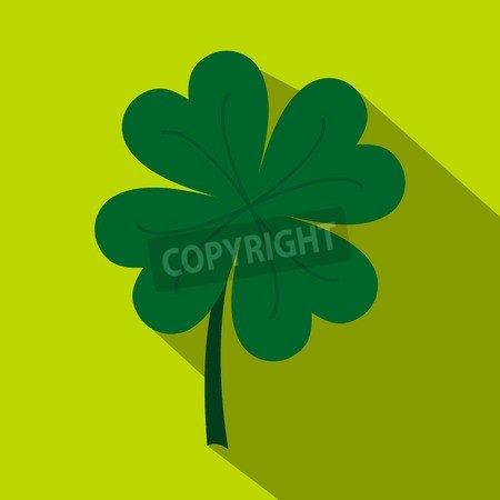 adrium Four Leaf Clover Icon, Flat Style (70987865), Alu-Dibond ...