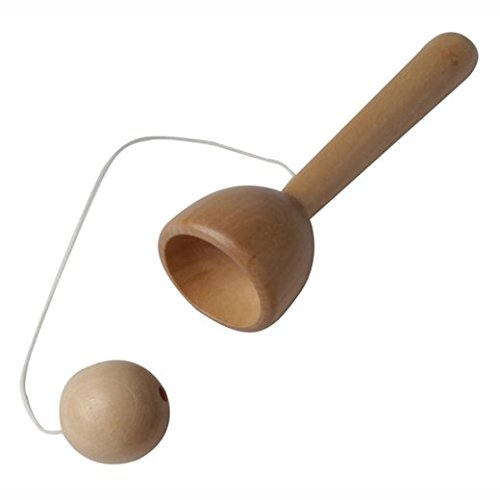 House Of Marbles Traditional Natural Wooden Cup & Ball Toy