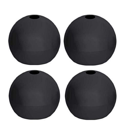 4pcs Ice Ball Maker Mold,Fheaven Silicone Whiskey Ice Cube Ball Maker Mold Sphere Mould Party Bar Tray Black