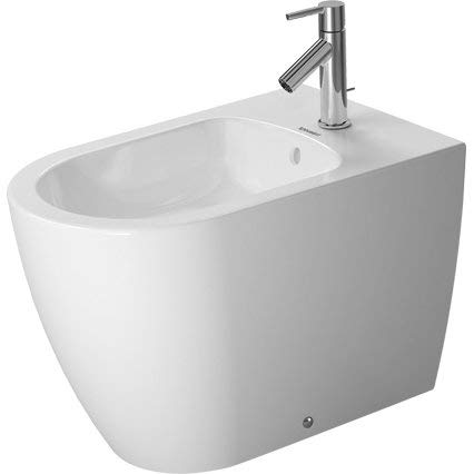 Floor Starck 1 - Bidet FS 600mm ME by STARCK white with OF, with TP, 1 TH, btw