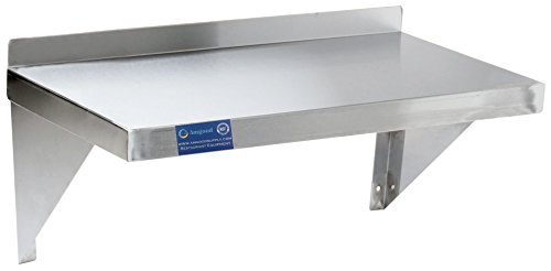 AmGood Stainless Steel Wall Shelf - Heavy Duty, Commercial Grade, Wall Mount, NSF Certified (18'' Width x 48'' Length) by AmGood