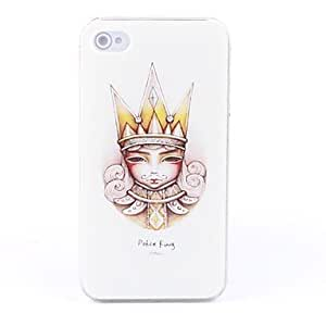 Poker King Pattern Hard Case for iPhone 4 and 4S
