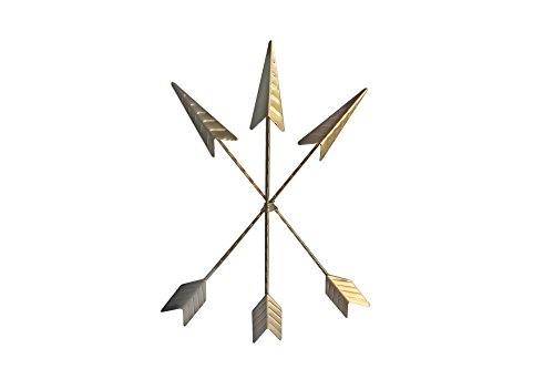 Decor set of 3 Native American Metal Arrows | Rustic Barn Wood Decorative Sign Room Decor | Farmhouse Decor + Home Decor Accents| Metal Wall Art | Metal Wall Decor | Bedroom Decor ()