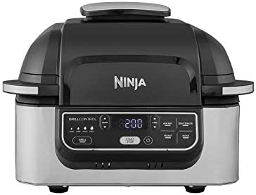 Ninja Foodi Health Grill and Air Fryer [AG301UK] 5.7 Litres, Brushed Steel and Black