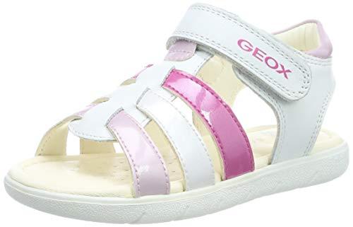 Geox Kids Baby Girl's Alul Girl 5 Sandal (Toddler) White/Pink 27 M EU