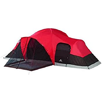 Amazon Com Ozark Large Tent Red And Black Sleep 10 With