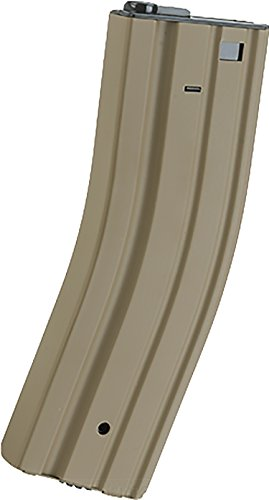 - Evike - Matrix Universal Feeding Full Metal 500rd Hi-Cap M4 AEG Magazine (Color: Tan)