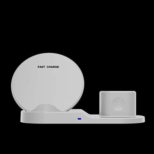 XuBa Cargador Inalámbrico Rápido 3 en 1 para iPhone 8 Plus X XR XS MAX para Apple Watch Iwatch Airpods