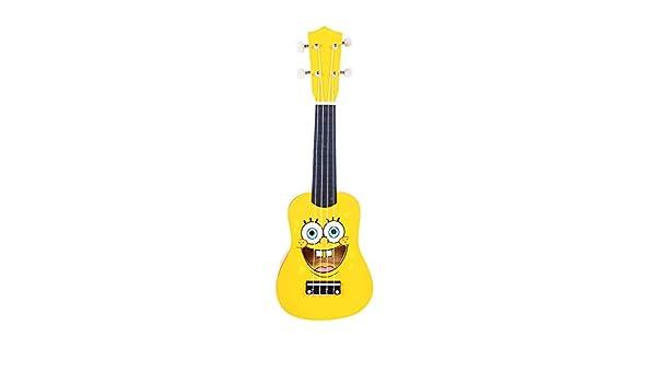 Guitarra acústica de madera con dibujos animados para ...