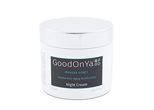 Night Cream with Manuka Honey, Aloe Vera and Cocoa Butter – Anti Aging and Skin Lightening Cream – Organic and Natural Anti Wrinkle, Deeply Hydrating, Pore Minimizer, Moisturizer for Face 8 oz
