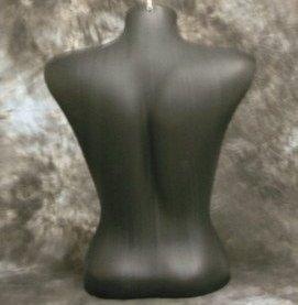 Female Torso Mannequin Form Display Bust Black Color (#5010)