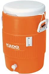 Igloo 5 Gallon Orange Cooler with Seat