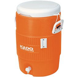 Igloo® 5 Gallon Orange Cooler w/Seat Lid (EA) (Screw Top Cooler)