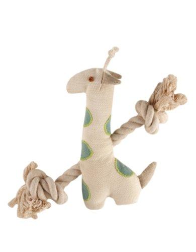 Simply Fido Natural Giraffe Canvas Dog Toy