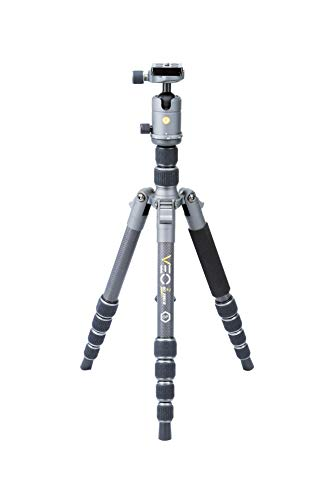 Vanguard VEO2GO235CB Carbon Fiber Travel Tripod with Ball Head for Sony, Nikon, Canon, Fujifilm Mirrorless, Compact System Camera (CSC), DSLR