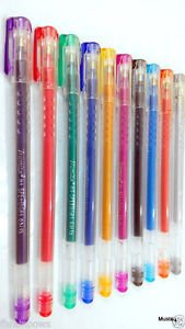 MONTEX Hi-Speed Sparkle Gel Pens (Multicolour) Gel Ink Rollerball Pens at amazon