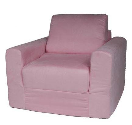 Polyester Suede Chair (Fun Furnishings Chair Sleeper, Pink Micro Suede)