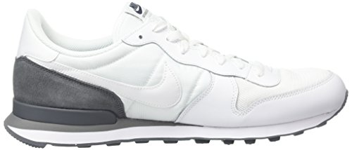 Nike Internationalist, Scarpe da Corsa Uomo Bianco (Weiß/Dunkelgrau)