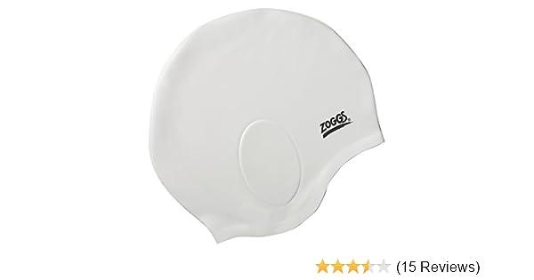 359269cb74b Amazon.com : Zoggs 300767-900 Ultra-Fit - Silicone Cap (White) : Swim Caps  : Sports & Outdoors