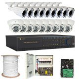 32 Channel 960H DVR Security Camera System with 700TV Outdoor Indoor Bullet Dome 2.8-12mm Varifocal Security Camera