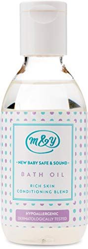 Mum&You New Baby Safe & Sound Bath Oil, 1 ea (3.38 fl oz), Gentle for Newborns and Sensitive Skin. Formulated Without Major Allergens. Mildly Scented, Rich Skin Conditioning Blend (1 Mum)