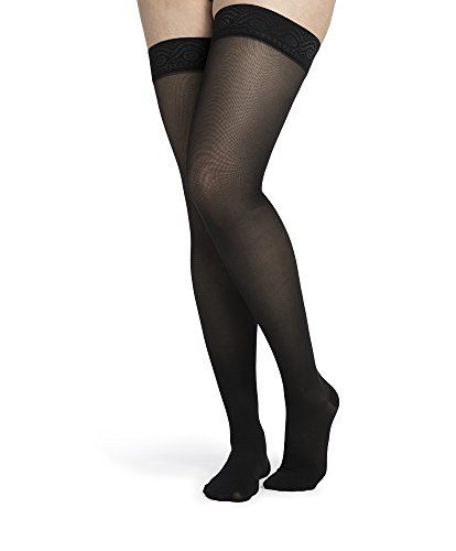 SIGVARIS Women's MIDSHEER 750 Closed Toe Thigh High w/ Grip Top Hose 20-30mmHg by SIGVARIS (Image #3)