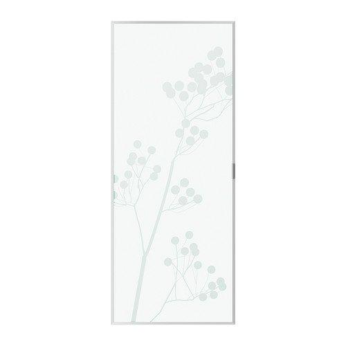 Ikea Billy Valbo Glastür Beere Strukturierten Aluminium 40x96 Cm