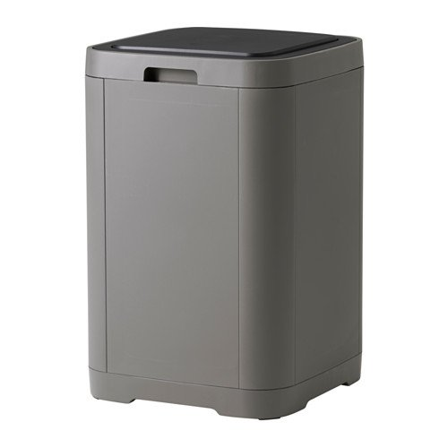 Ikea GIGANTISK Touch top Trash can, Dark Gray