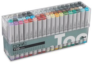 Copic Original Marker Sets - Original Markers, Set B of 72 Colors, Design Values by Copic