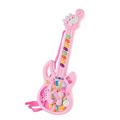 Toy Shimigy Electric Guitar Musical Play for Kid Boy Girl Toddler Learning Electron: Clothing