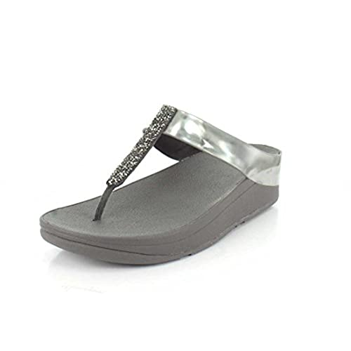 Fino Toe-Post Glissement Fitflop Women Sandals - Pewter cheap
