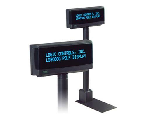 Logic Controls POLE DISPLAY 9.5MM 2X20 USB GRAYw/ PARTNER TECH COMMAND SET