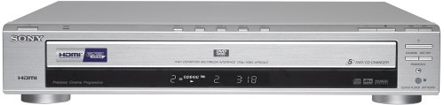 (Sony DVP-NC85H/S HDMI/CD Progressive Scan 5-Disc DVD Changer, Silver)