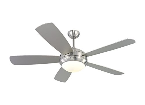 """Price comparison product image Monte Carlo 5DI52BSD-L,  Discus,  52"""" Ceiling Fan,  Brushed Steel"""