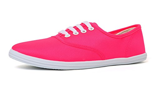VenusCelia Women's Champion Original Canvas Sneaker (9 B(M) US, Fuchsia) (Sneaker Pink Canvas)