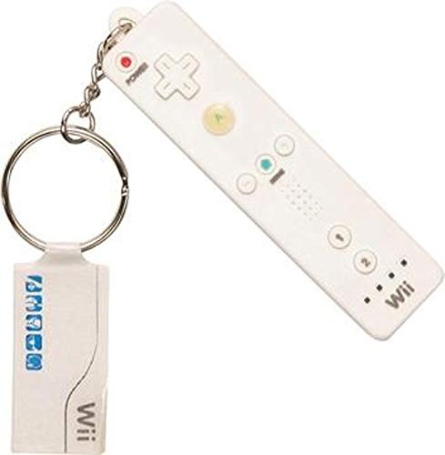 Wii Console Controller Mascot Keychain - White