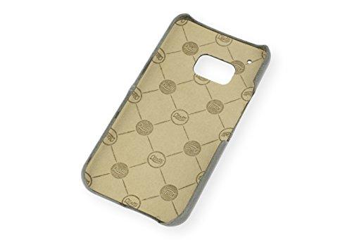 QIOTTI Q. à Smart snapcase en cuir véritable pour HTC One M9brut–Gris