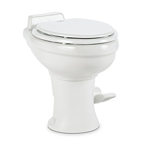 Dometic 320 Series Standard Height Toilet w/Hand Spray, White