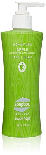 Soapbox Soaps All-Natural Apple Liquid Hand Soap, Apple, 8 O