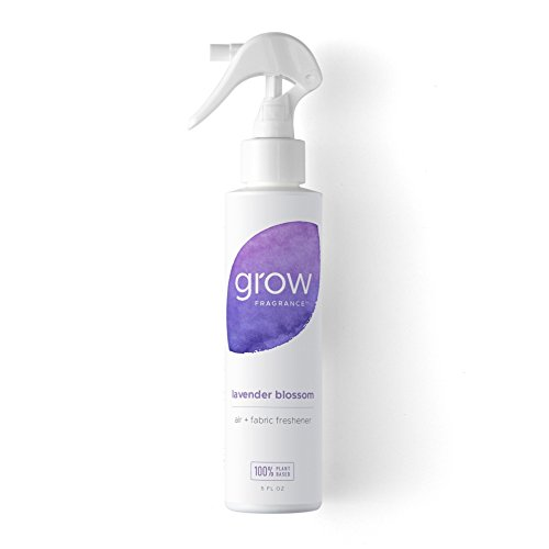 Grow Fragrance - Certified 100% Plant Based Air Freshener + Fabric Freshener Spray, Made With All Natural Essential Oils, Lavender Scent, 5 oz.