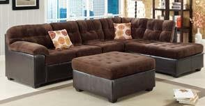 Chocolate Morgan Fabric Sectional by Acme Furniture