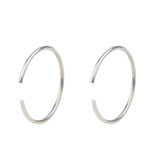 T'US 20G Tiny Nose Ring Hoop Nose Piercing Clip on Ear Hoop Ring Fake Nose Ring Nose Lip - Piercing Tiny Nose