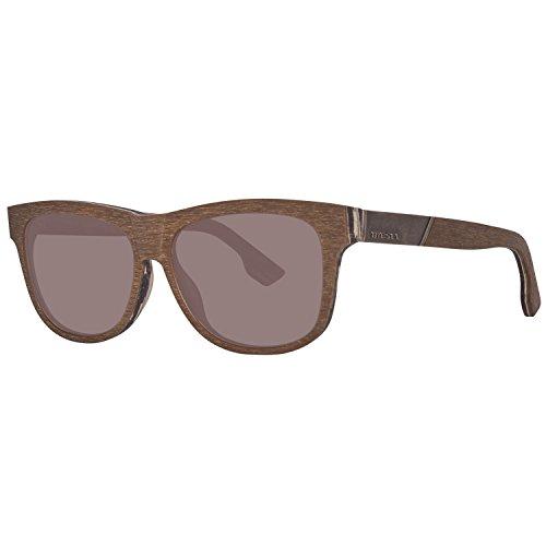 Diesel Eyewear Unisex Square Sunglasses (Black Woodgrain) (Designer Square Sonnenbrille)