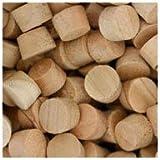 WIDGETCO 3/8'' Cherry Wood Plugs, Face Grain